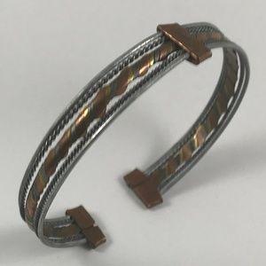 Beautiful Vintage Bracelet. Three Metal Bracelet